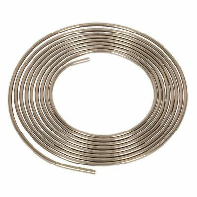 "Sealey Brake Pipe Seamless Tube Cupro-Nickel 22 Gauge 5/16"" x 25ft BS EN 12449"