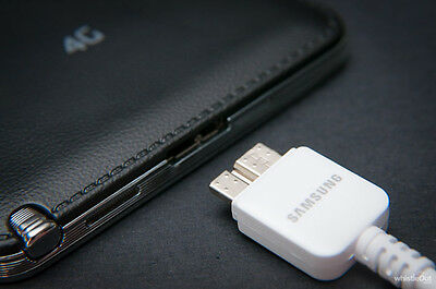New OEM Samsung Galaxy Note 3 S5  N900 USB 3.0 Data Sync Cable Charger White