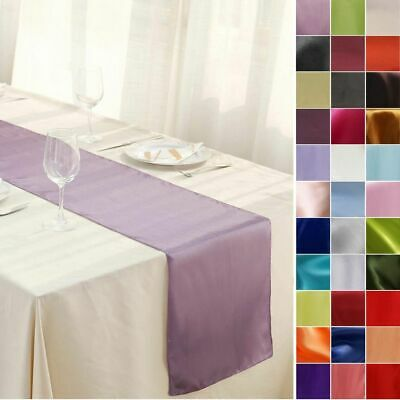 """12"""" x 108"""" Satin Table Runner Wedding Party Dinner Table Supply Decorations SALE"""