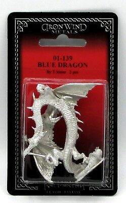 Ral Partha 01-139 Blue Dragon (1) 25mm Miniature Winged Electrical Drake Wyrm