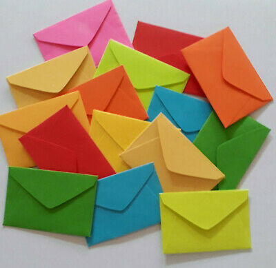 "Handmade miniature envelopes 1""x1-1/2"" tiny small mini cute little seed envies"
