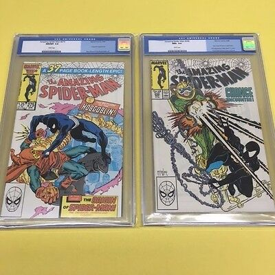 The Amazing Spiderman 275 CGC 9.8 & 298 CGC 9.6! Old Blue Lable 1st McFarlane
