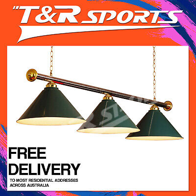 New Green Metal Pool Billiard Snooker Table Light Lamp Free Delivery