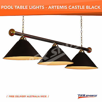 Black Metal Pool Billiard Snooker Table Light Lamp Stock Clearance Free Delivery