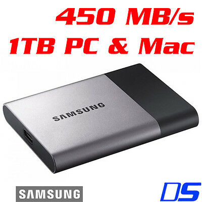"Samsung T3 1TB 2.5"" USB 3.1 Type-C Portable External SSD Solid State Drive"