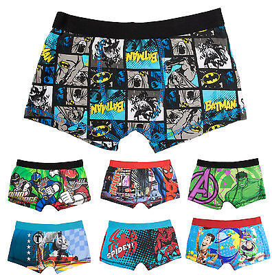 Kids Boys Official Character Boxer Shorts Childrens Underwear Boxers Size 2-10 Y