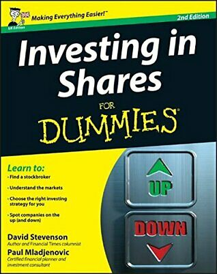 Investing in Shares For Dummies by David Stevenson Book The Cheap Fast Free Post