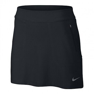 Women's NIKE GOLF No Sew Knitted Pull On Skort / Skirt - Size Small - Black