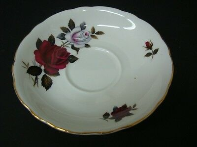 Colclough Amoretta Breakfast Saucer Red & White Roses