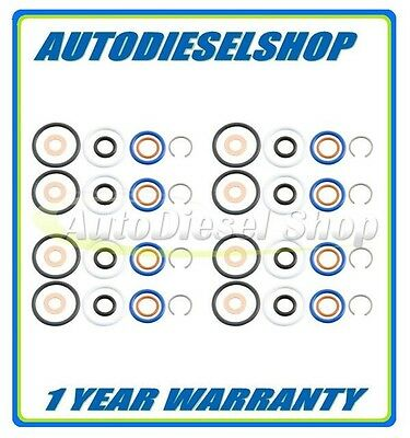03-10 FORD 6.0 6.0L FUEL INJECTOR ORING KIT W// C-CLIP /& NON-SERVICED TOP SEAL