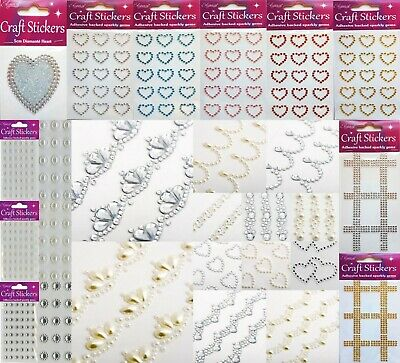 Self Adhesive Stickers Diamante Embellishments Rhinestones Cards Scrapbooking