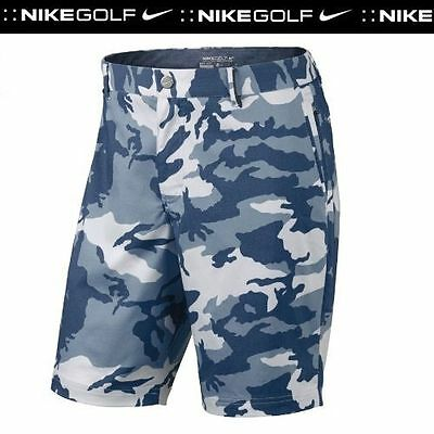 "Men's NIKE GOLF Modern Fit Camo Print Woven Shorts - Size 30"" / Small"