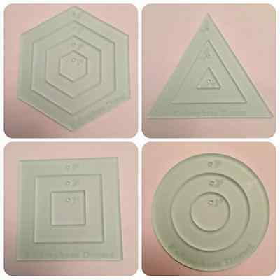 Quilting mini templates -square, triangle, circle and hexagon