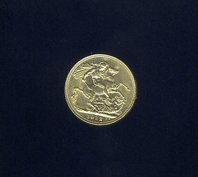 England, Uncirc. 1912 Gold Sovereign From W.W. 2 U.S. Army Air Corps Pilot Pack