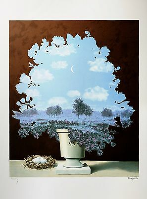 René Magritte - The Country of Marvels (signed & numbered lithograph)