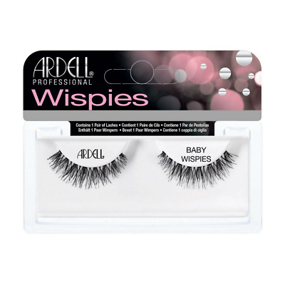 Ardell Invisibands Natural Strip False Lashes - BABY WISPIES - BNIB BLACK