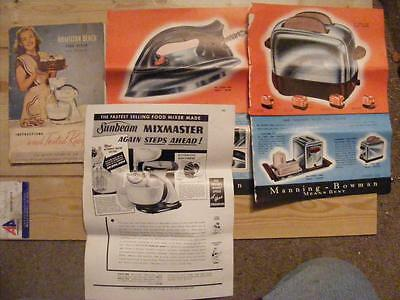 Hamilton Beach Food Mixer Manual & Other Advertising Sunbeam Mixmaster Etc