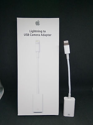 Lightning to USB Camera Adapter Cable For iPhone iPad Mini Air Pro MD821ZM/A
