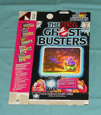 vintage Ralston THE REAL GHOSTBUSTERS CEREAL BOX hologram
