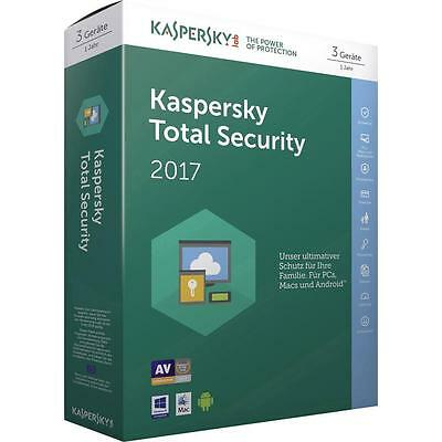 Kaspersky Total Security 2017 2 PC / Geräte / 1 Jahr / Download / auch f. 2016