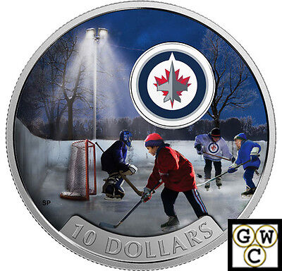 2017 $10 FINE SILVER COIN PASSION TO PLAY: WINNIPEG JETS(TM) 1/2oz. (NT) (17855)