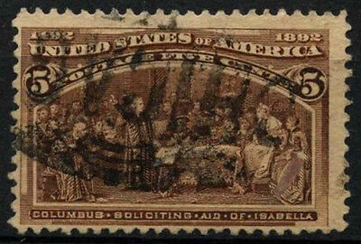 USA 1893 SG#239/a 5c Columbian Exposition Used #D34009