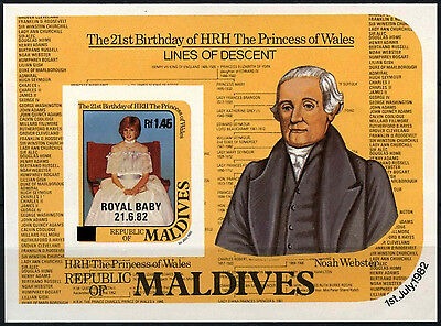Maldive Is. 1984 SG#MS1042 Royal Baby Thin Black Surch MNH Imperf M/S #D34148