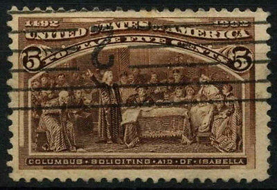 USA 1893 SG#239/a 5c Columbian Exposition Used #D34011
