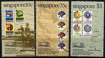 Singapore 1983 SG#454-6 Stamp Exhibition Used Set #D33617
