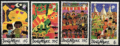 Singapore 1989 SG#606-9 Childrens Drawings Cto Used Set #D33587