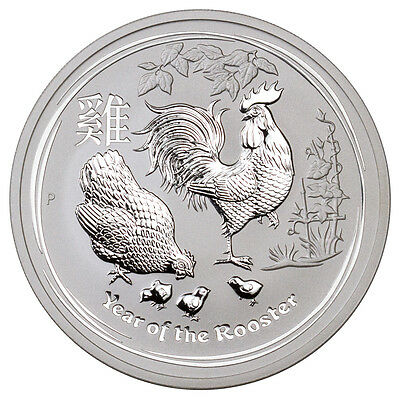 2017-P Australia $8 5 oz Silver Lunar Year of the Rooster (In Mint Cap) SKU43300