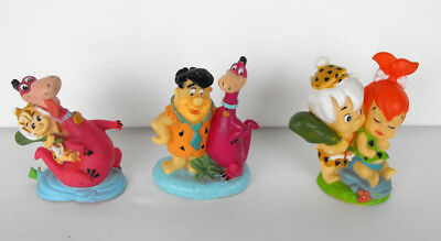 RARE THE FLINTSTONES Lot of 4 Candy Toppers figures 1993