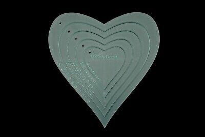 A set of 5 acrylic heart sewing/craft stencils/templates perfect for appliqué -