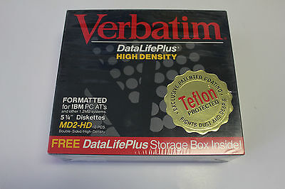 Brand New Sealed in Box Verbatim DatalifePlus MD2-HD Formatted Diskettes 10PK
