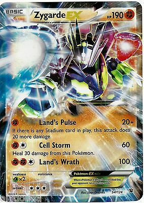 Carte pokemon ultra rare zygarde ex promo 54 124 neuve - Carte pokemon geante ...