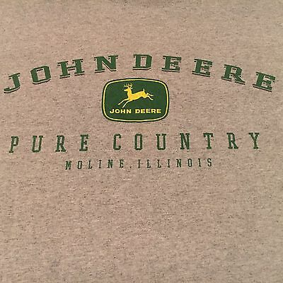 official JOHN DEERE brand t shirt-PURE COUNTRY moline illinois-TRACTOR FARM-(L)
