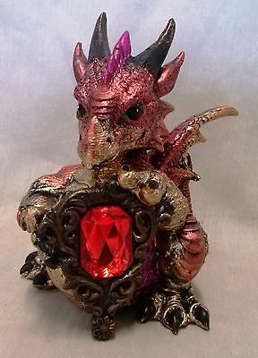 "Baby Dragon with ""Gem"" Statue-B"