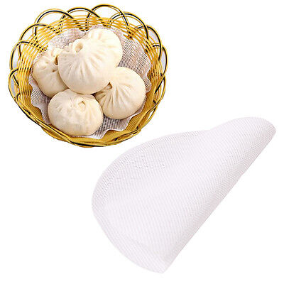 Food Steamer Pad White Silicone Non-Stick Pad Round Dumplings Steam Baking Mat