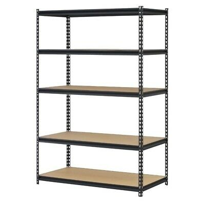 5 Shelf Metal Storage Rack Steel Shelving Adjustable Heavy Duty 48 x 24 x 72 in