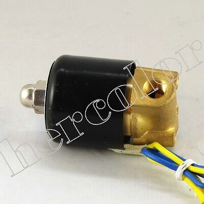 "Brand New 12V 1/8"" Electric Solenoid Valve for Air Water Gas Oil"
