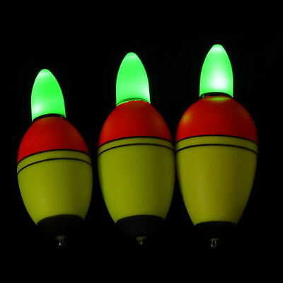 2pcs Fishing Floats Intelligent Electronic Light Bobber EVA Plastic Night Tackle