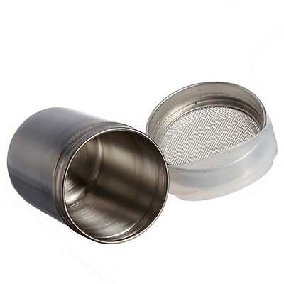 Stainless Chocolate Shaker Icing Powder Flour Powder Cocoa Coffee Sifter RI