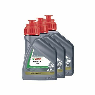 Castrol Motorcycle / Motorbike / MX Suspension Fork Oil 15W - 1.5L (3 x 500ml)