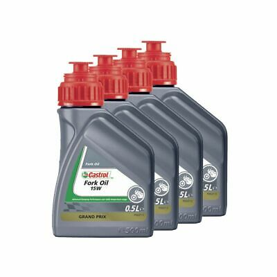 Castrol Motorcycle / Motorbike / MX Suspension Fork Oil 15W - 2L (4 x 500ml)