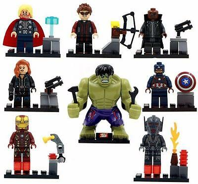 Hot 8 Sets Super Heroes Avengers Building Toys Hulk Iron Man Kid's Blocks Toy DR
