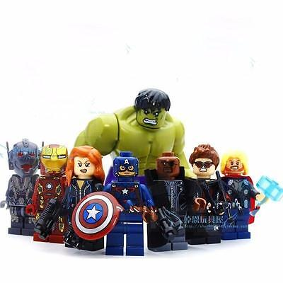 8 Sets Super Heroes Avengers Building Toys Hulk Iron Man Kids Gift Blocks Toy DR