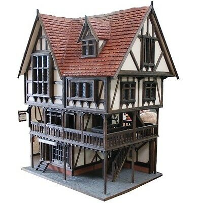 Rochester Hall ~ Unique OOAK Handcrafted Tudor Dolls House By Kevin Jackson!!
