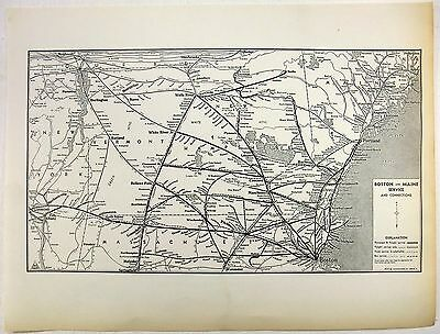 Original 1941 Boston and Maine Railroad System Map