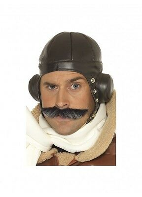 Flying hat brown Biggles Style Aviator 1940s Costume accessory NOVELTY