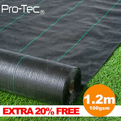 1m wide 100g weed control fabric landscape garden ground cover membrane barrier